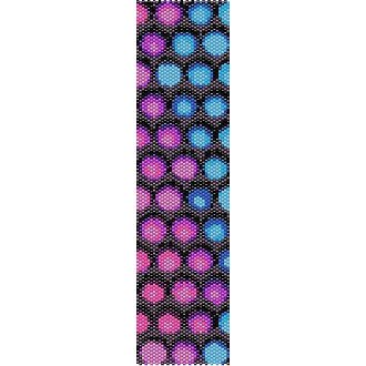 FUNKY BUBBLES  - LOOM beading pattern for cuff bracelet SALE HALF PRICE OFF