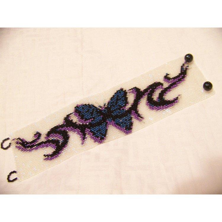Butterfly Tattoo Beading Cuff Bracelet Sale Half Price