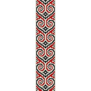 MAORI HEARTS1  - LOOM beading pattern for cuff bracelet SALE HALF PRICE OFF