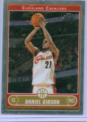 07 Topps Chrome Daniel Gibson Rookie card
