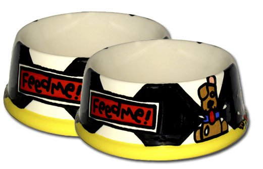 Feed Me Large Personalized Dog Bowl