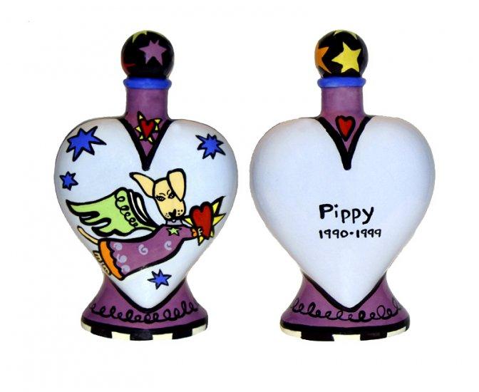 Pet - Dog - Urn - Heavens Best Dog Heart Shaped Urn - Personalized - Handpainted