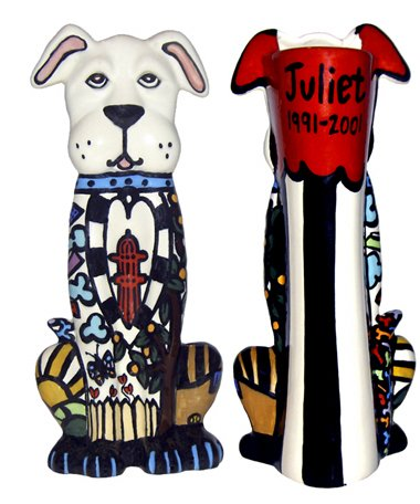 Pet - Dog - A Dog's Life Dog Urn - Persoanalized - Handpainted