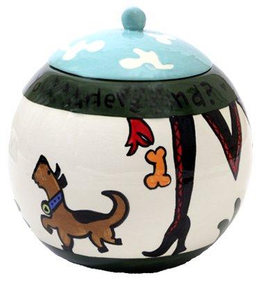 Sassy - Dog Treat Jar - 7 Inch - Handpainted - Personalized