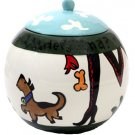 Sassy - Dog Treat Jar - 7 Inch - Handpainted - Personalized