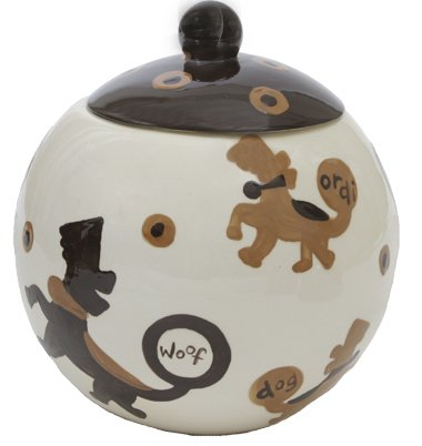 Crunchtime - Dog Treat Jar - 7 Inch - Handpainted - Personalized