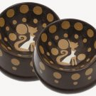 Crunchtime - Cat Bowls - Handpainted - Personalized