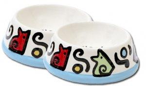 Bonznmice - Set Of Cat Bowls - Handpainted - Personalized