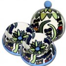Masquerade - Small Dog Bowls And Pet  Dog Treat Jar Combo