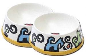 Bonznmice - Large Dog Bowl Set - Handpainted - Personalized