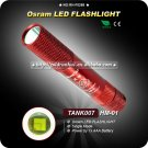 HM-01 HA-II OSRAM 100-Lumen LED Flashlight - Red (1*AAA) Camping Hiking Mini Torch