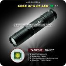 1PC TANK007 TK507 LED Flashlight Cree XPG R5 LED 5 Mode Waterproof Hand Flashlight