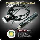 Archon DH25 U2 LED 1000Lumens Professional Canister Diving Flashlight & Headlight (Black)