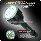 Professional Diving Flashlight ARCHON D45 5X CREE XM-L U2 LED Most Powerful 4x32650 Battery