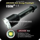 Professinal Diving Flashlight ARCHON D22 3 Mode 1000 LM CREE XML T6 LED Diving 2x26650 Battery