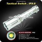 Blackshadow FIRE CREE Stainless Steel Flashlight 4 Mode 18650 Aluminium Tactical Flashlight
