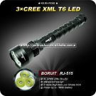 3T6 Flashlight 5 Mode 3800 Lumens 3x CREE XM-L XML T6 LED Flashlight 18650 Battery
