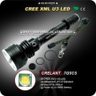 7G5CS-U3 920 Lumen CREE XML-U3 LED Long Throw Flashlight Outdoor Hiking Camping Torch