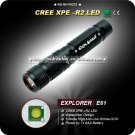 E61 R2 LED Flashlight - Black (AAA) Waterproof Aluminum Camping Hiking Mini Torch