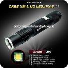 U2 LED Max output 450 Lumens 4 Modest Flashlight Super Aircraft-Grade Aluminum LED Torch
