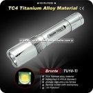 Bronte TU10-Ti Flashlight 4 Mode 500 Lumen U2 LED Flashlight 1x18650 Battery TC4 Torch