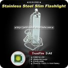 1PC TrustFire S-A6 5 Mode CREE XP-E Q4 AAA Stainless Steel Slim Flashlight