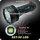 1PC Trustfire X2 1300 Lumen SST-50 LED Flashlight 4 Mode 3*18650 Hiking Fishing Torch