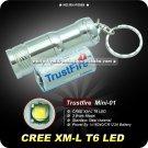 Trustfire Mini-01 CREE XM-L T6 3-Mode 280-Lumen LED Keychain Mini Flashlight+1 x CR123 battery