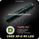 1PC Turstfire SA-2 Flashlight 320 Lumens 3 Mode CREE XP-G R5 LED Mini Torch