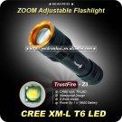 1PC TrustFire Z3 CREE T6 LED 1000 Lumen 5-Modes Aluminium Zoomable Adjustable Focus flashlight