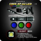 1 Set OLIGHT M20S Warrior Cree XP-G2 LED Tactical Flashlight 420Lumens
