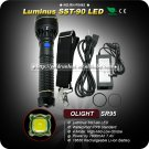 Olight SR95 Intimidator SST-90 Ultimate Throw Rechargeable LED Flashlight Searchlight 2000 Lumens