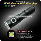 1PC KLARUS RS16 Flashlight Cree XP-G2 LED 4 Mode 1 x 16340 Battery Waterproof torch