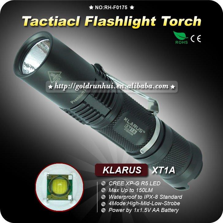 1PC KLARUS XT1A Flashlight Cree XP-G R5 LED 4 Mode By 1 x AA Battery Waterproof