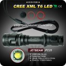 1PC JETBEAM PC25 Flashlight 5 Mode 400 Lumens CREE XM-L XML T6 LED Flashlight