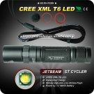 1PC Flashlight JETBeam ST CYCLER CREE XM-L T6 LED Flashlight 18650 Waterproof IPX-8
