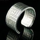 Hand-painted silver metallic texture pattern leather bracelet adjustable free shipping -zp007