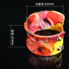 Fashion classic hand-painted leather green red bracelet adjustable free shipping -zp011