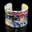 Fashion beautifully painted leather bracelet colorful bracelet elastic adjustable free shipping