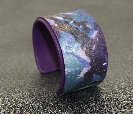 Fashion beautifully painted purple snake leather bracelet mosquito elastic adjustable free shipping