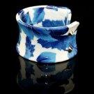 Refined and elegant blue painted leather bracelet elastic adjustable Maple Free shipping -zp031