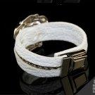 Fashion white minimalist decor trend Avatar bracelet female models hand with gift free shipping