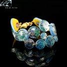 Original unique blue circle decorative fashion bracelet free shipping -zp078