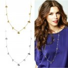 Rivet punk fashion exquisite crystal ball long necklace sweater chain -sp004