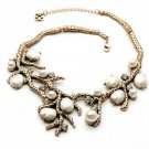 Exaggerated fashion exquisite inlaid pearl necklace wedding necklace branches -sp008