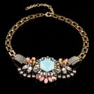 Exaggerated fashion exquisite vintage crystal necklace wedding necklace flowers -sp009