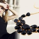 Fashion exquisite inlaid solid color sweater chain necklace short paragraph -sp013