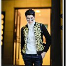 idjewelry fashion Slim casual cool holiday gift space cotton jacket collar male students NY006