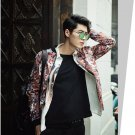 idjewelry cool holiday gift flower fashion Slim casual jacket collar jacket male students NY010