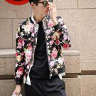 idjewelry cool holiday gift flower fashion Slim casual jacket collar jacket male students NY011